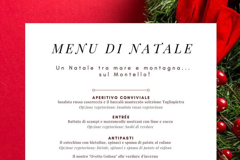 Menu Di Natale Per 30 Persone.25 Dic Menu Di Natale La Paterna Ristorante Sul Montello